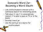 donovan s word jar becoming a word sleuth
