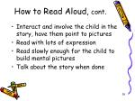 how to read aloud cont
