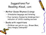 suggestions for reading aloud cont