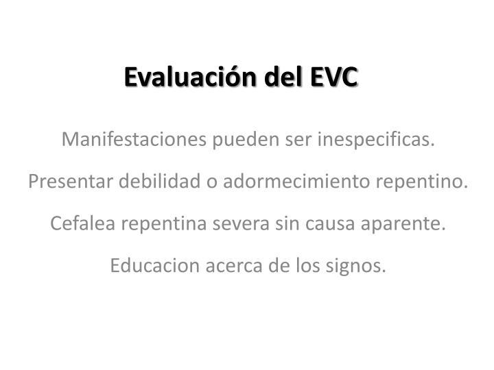 Evaluación del EVC