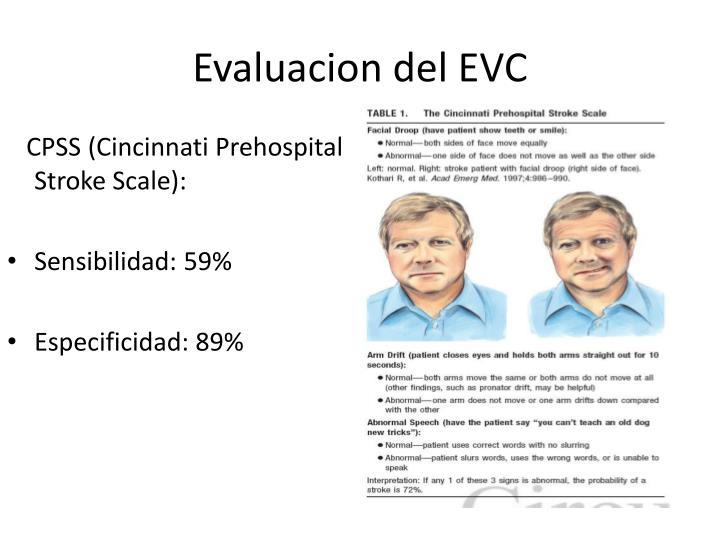 Evaluacion del EVC