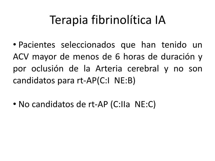 Terapia fibrinolítica IA