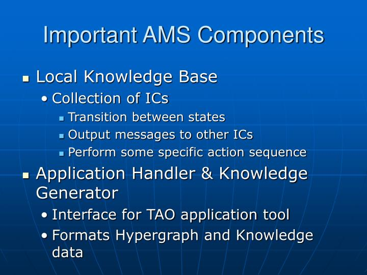 Important AMS Components