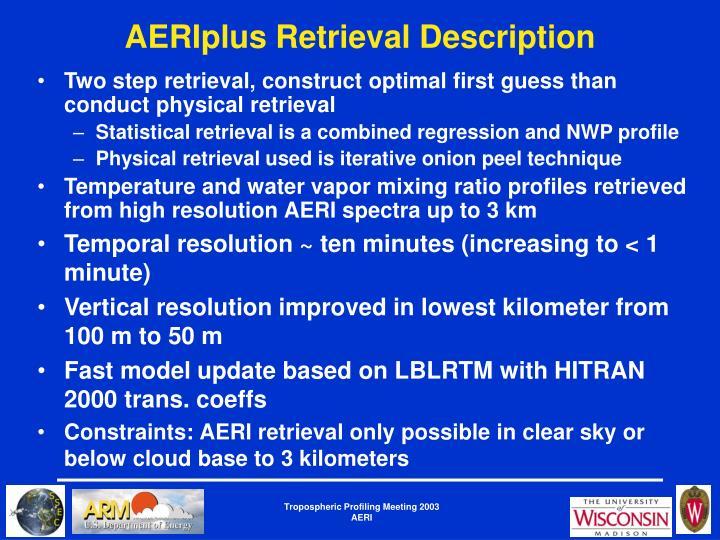 AERIplus Retrieval Description