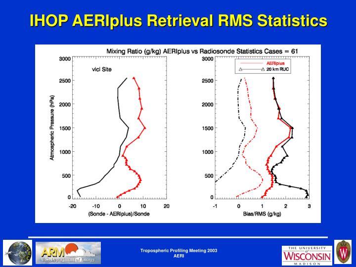 IHOP AERIplus Retrieval RMS Statistics