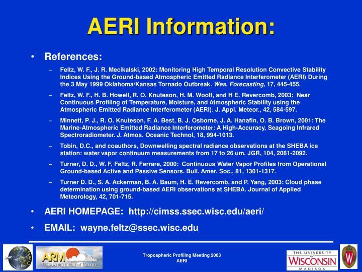 AERI Information: