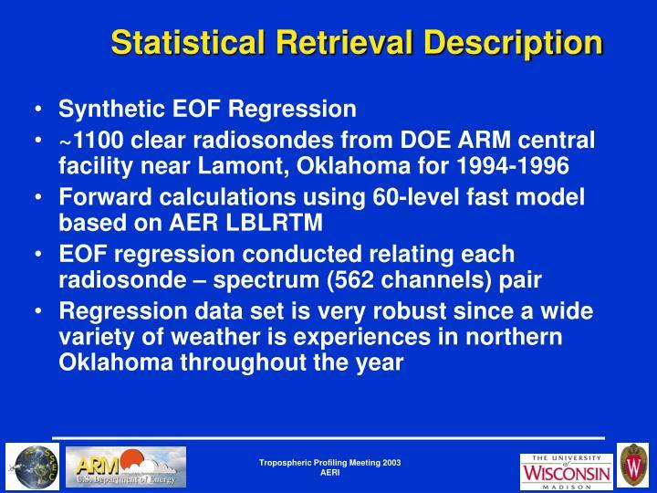 Statistical Retrieval Description