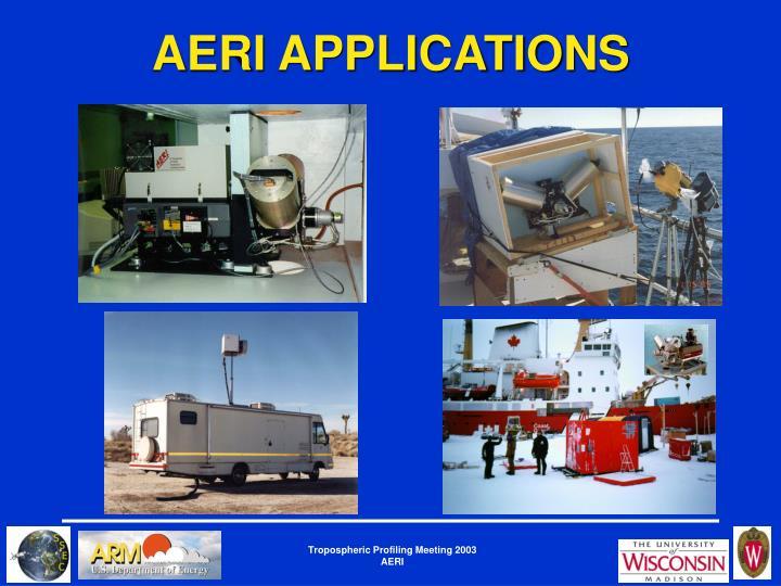 AERI APPLICATIONS