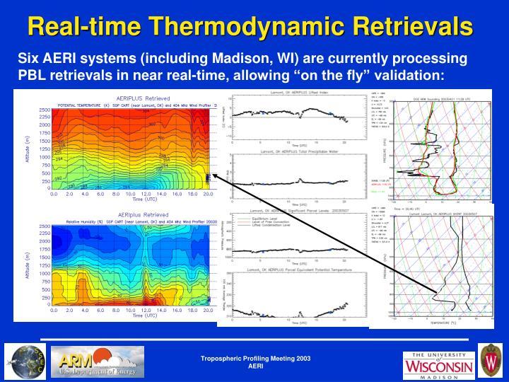 Real-time Thermodynamic Retrievals
