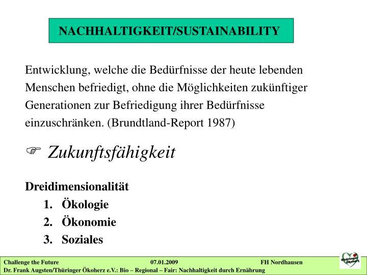 NACHHALTIGKEIT/SUSTAINABILITY