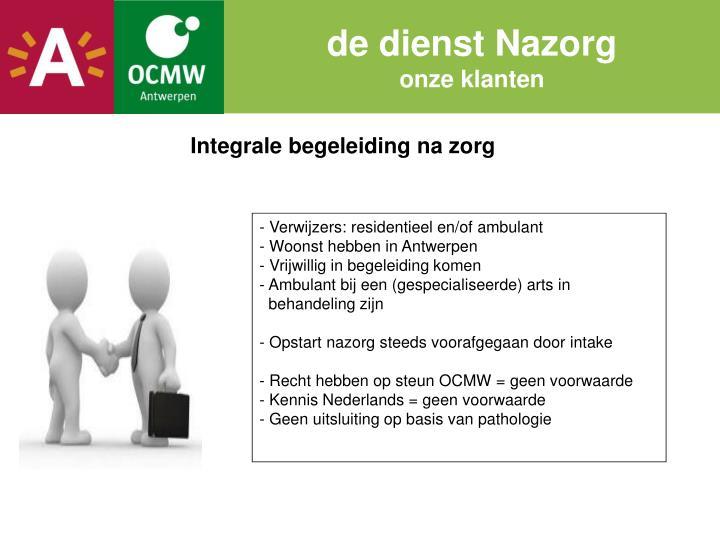 de dienst Nazorg