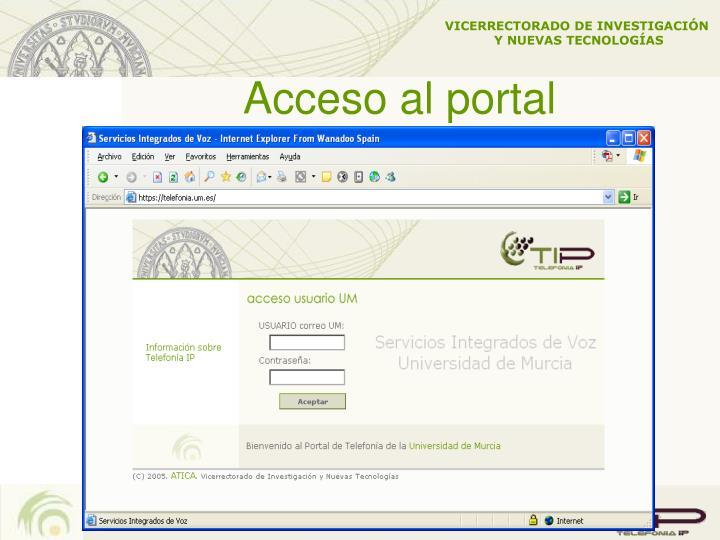 Acceso al portal