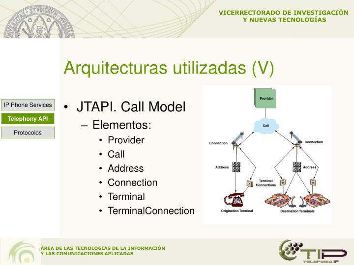 Arquitecturas utilizadas (V)