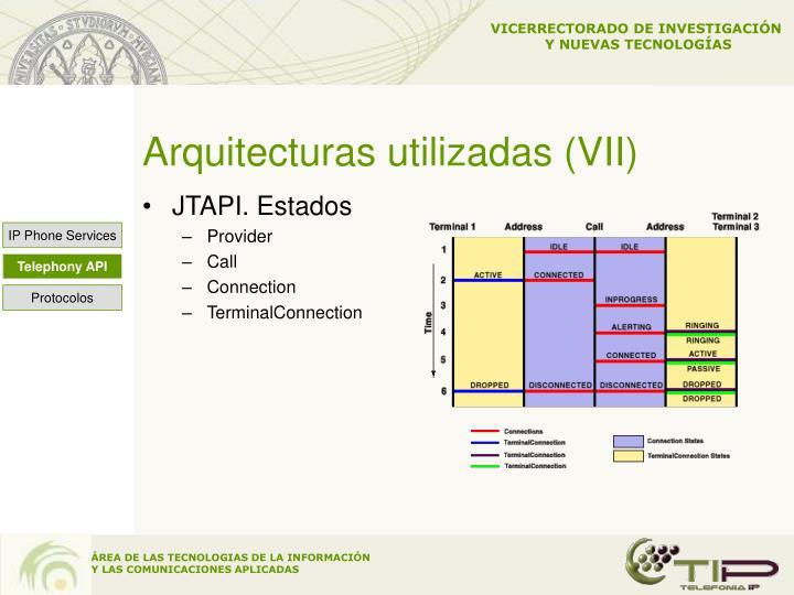 Arquitecturas utilizadas (VII)