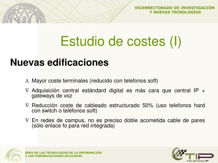 Estudio de costes (I)