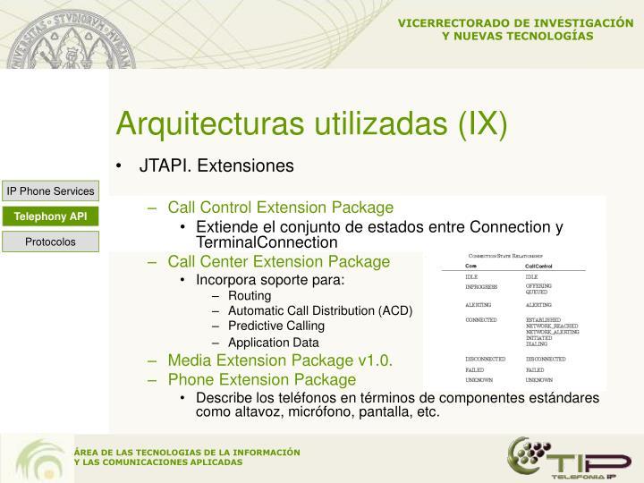 Arquitecturas utilizadas (IX)