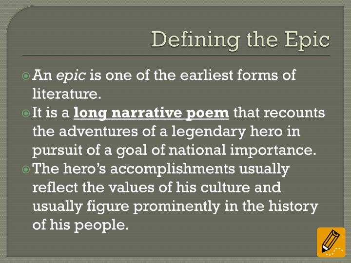 Defining the Epic