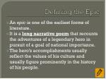 defining the epic1