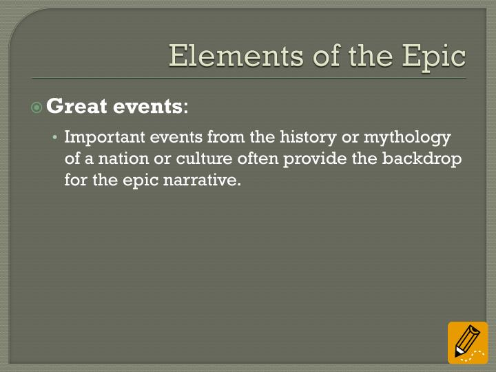 Elements of the Epic