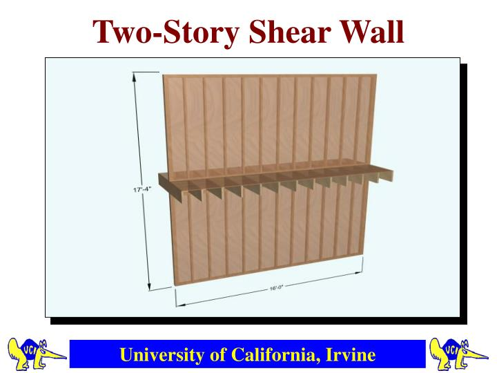 Two-Story Shear Wall