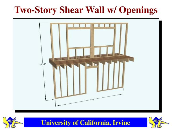 Two-Story Shear Wall w/ Openings