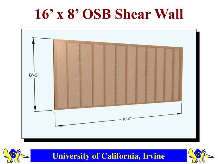 16' x 8' OSB Shear Wall