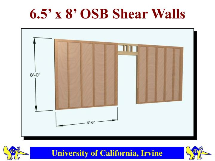 6.5' x 8' OSB Shear Walls