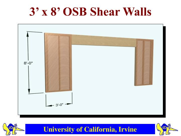 3' x 8' OSB Shear Walls