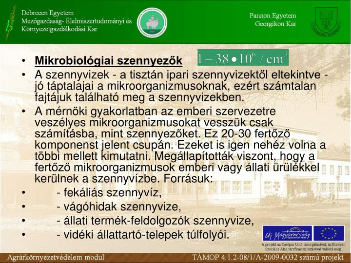 Mikrobiolgiai szennyezk