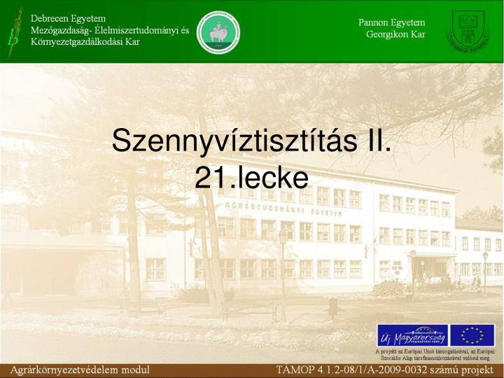 Szennyvztisztts II.
