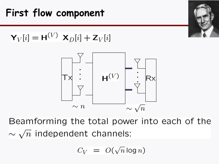 First flow component