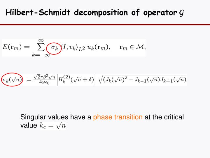 Hilbert-Schmidt decomposition of operator