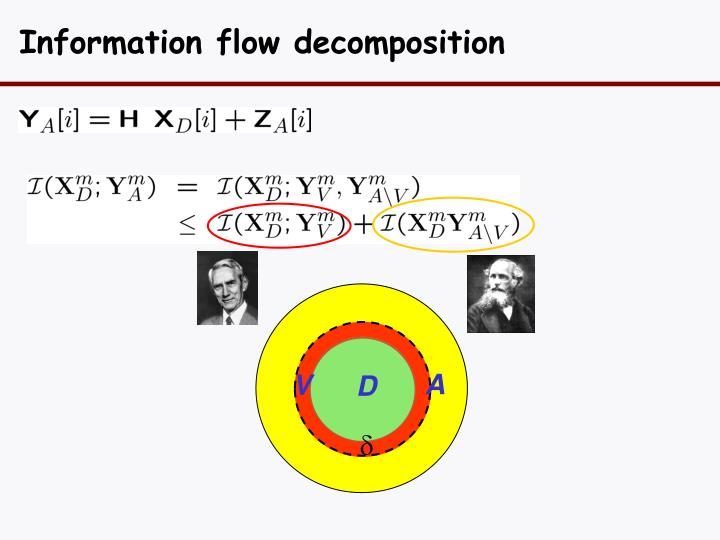 Information flow decomposition