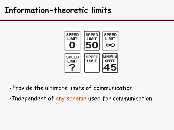 Information-theoretic limits