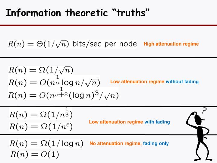 "Information theoretic ""truths"""