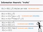 information theoretic truths