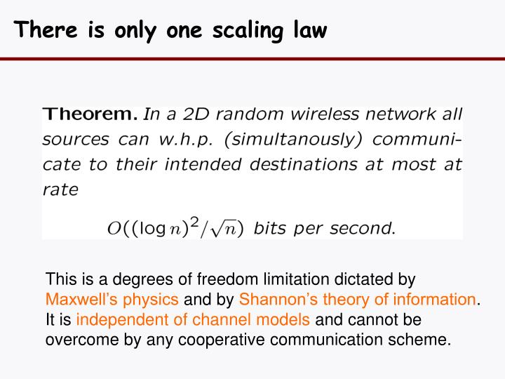There is only one scaling law
