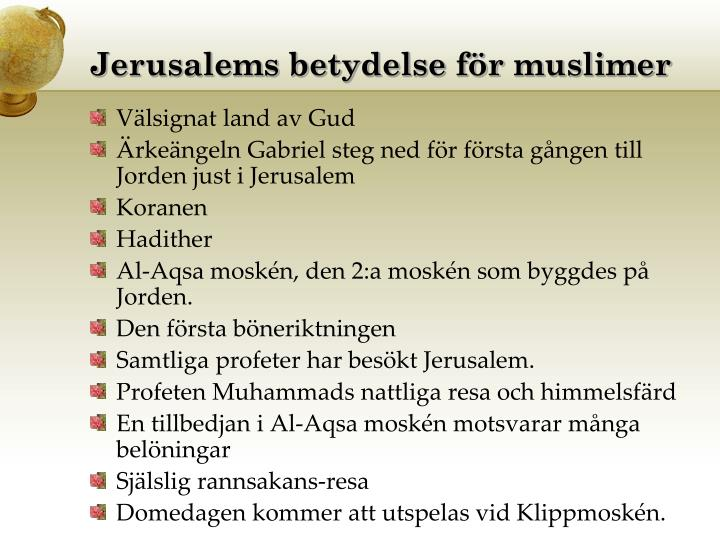 Jerusalems betydelse för muslimer
