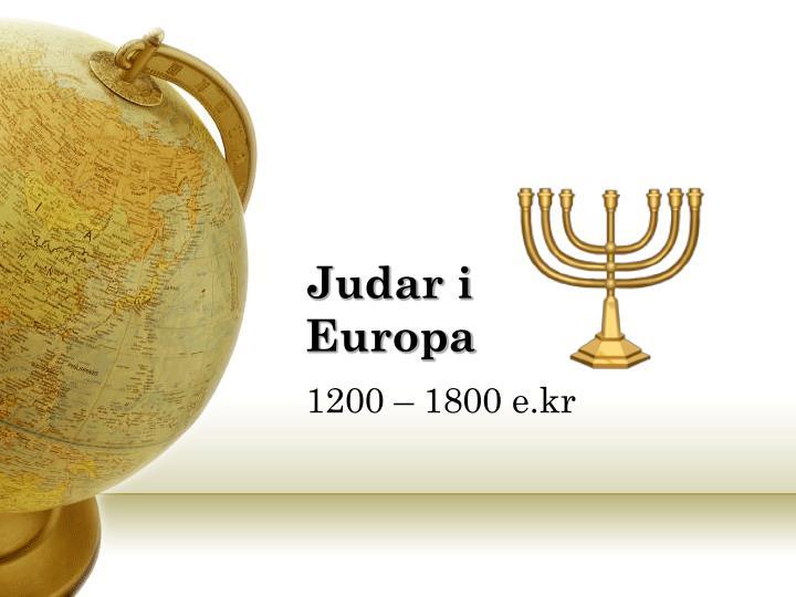 Judar i Europa