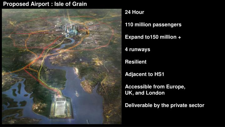 Proposed Airport : Isle of Grain