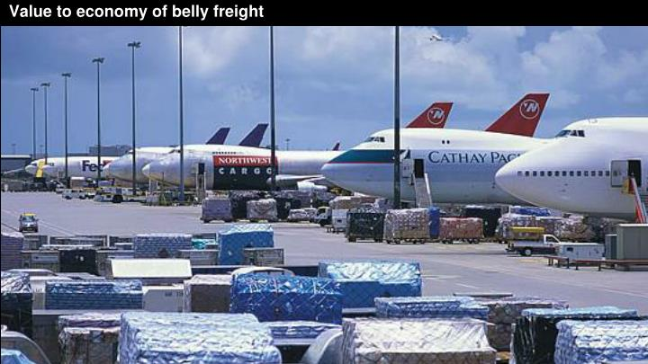 Value to economy of belly freight