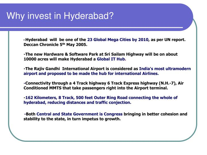 Why invest in Hyderabad?