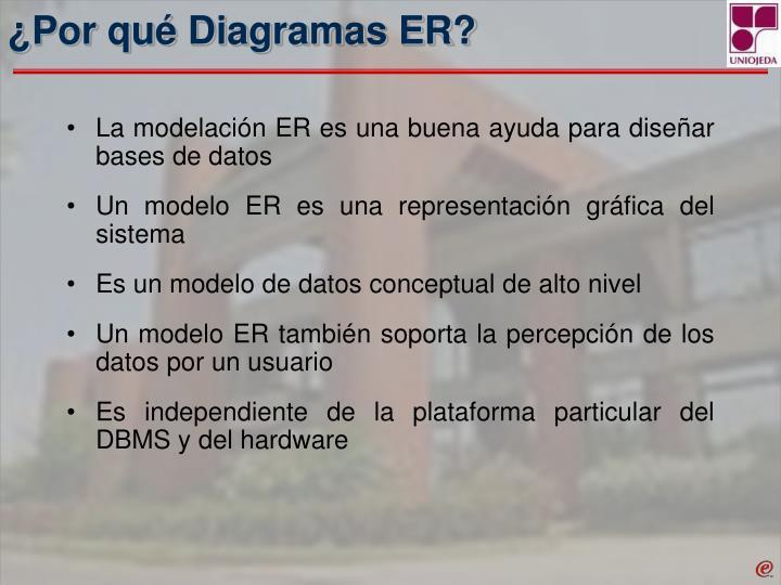 ¿Por qué Diagramas ER?