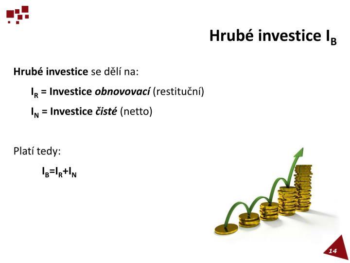Hrubé investice I