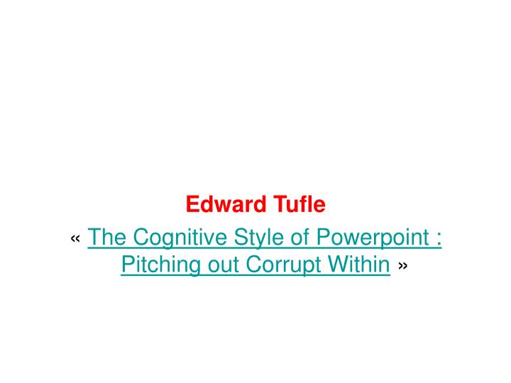 Edward Tufle