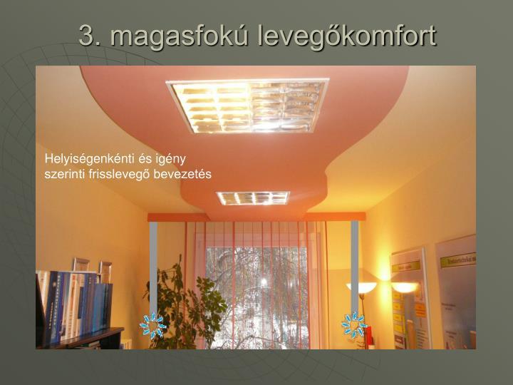 3. magasfokú levegőkomfort