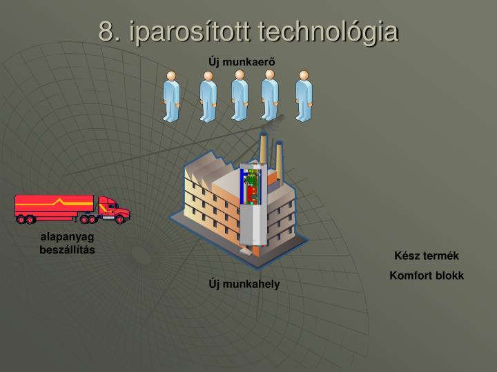 8. iparosított technológia