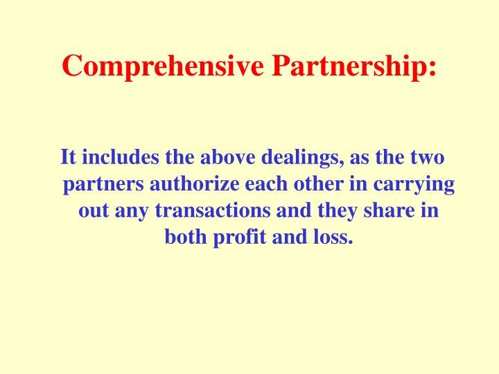 Comprehensive Partnership: