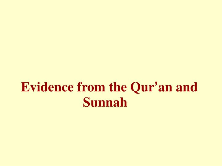 Evidence from the Qur