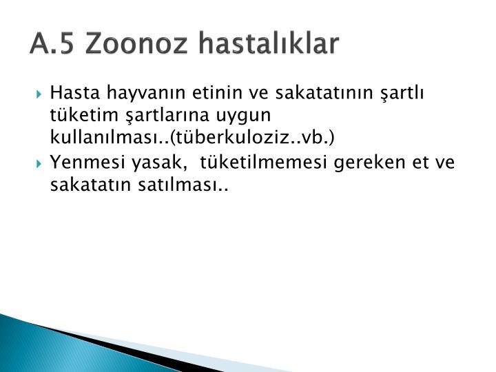 A.5 Zoonoz hastalıklar